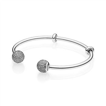 Pandora Open Bangle Bracelet, Clear CZ 596438CZ